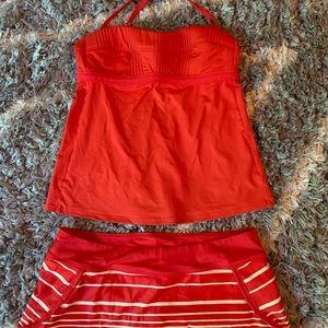 Athleta Tankini and swim skirt